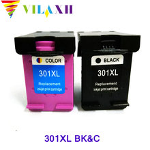 2pcs For hp 301xl Ink Cartridge for 301 HP Deskjet 1050 2050 2050s 3050 Envy 4500 4502 4504 5530 5532 5539 printer ink