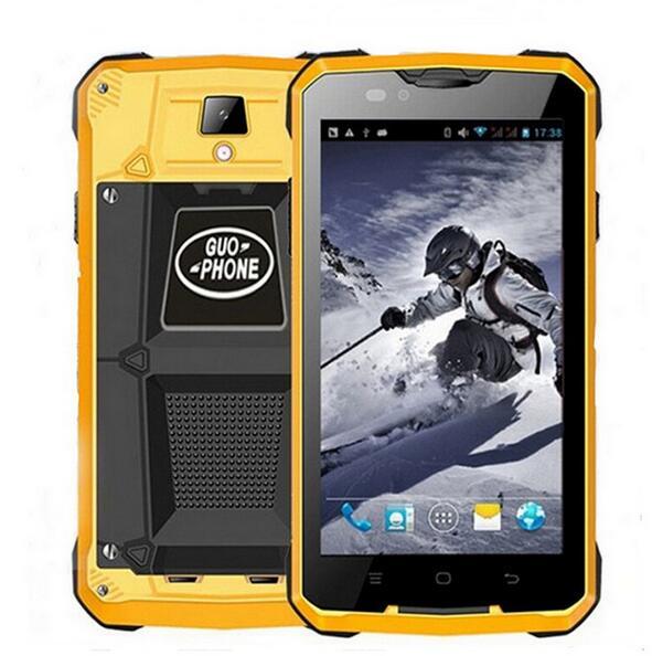 """Цена за Противоударный 3 г смартфон в исходном guophone v12 5.0 """"mtk6572 dual core android 4.4 dual sim карты мобильного телефона"""