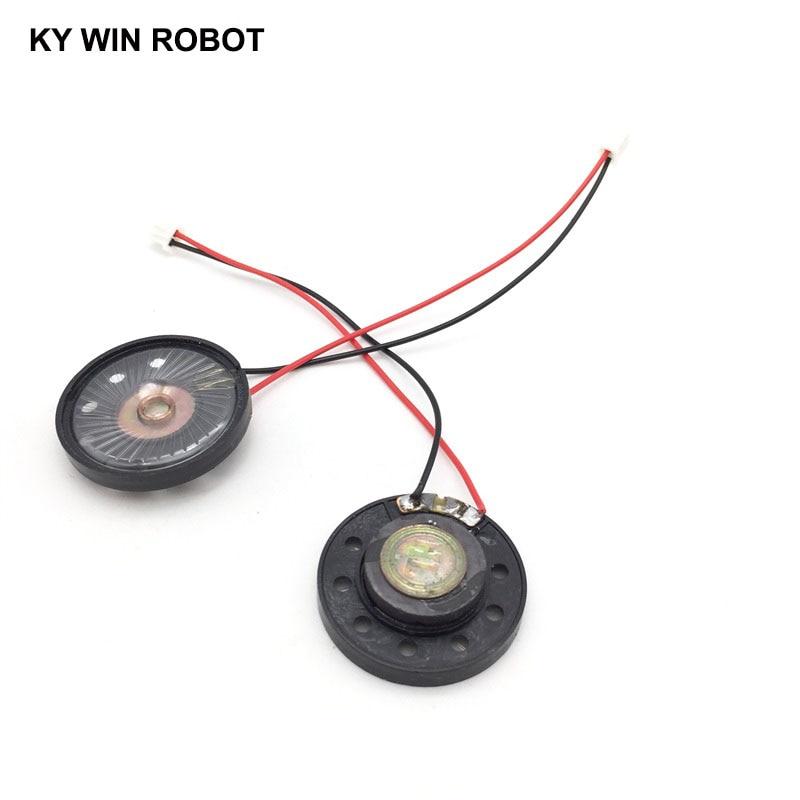 """מזגנים 2pcs / הרבה חדש דק צעצוע ברכב צופר 32 אוהם 0.5 וואט 0.5W 32R הדובר קוטר 36mm 3.6CM עם 10 ס""""מ אורך החוט מסוף PH2.54 (3)"""