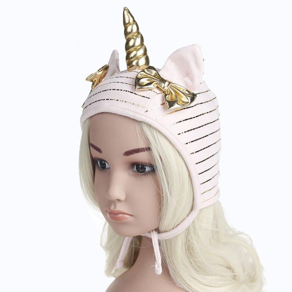 1pcs 2018 Newest Kid   Skullies     Beanie   hats Cute Soft Children Unicorn Cosplay Cap with Handmade Girls Boys Girls Rabbit Ears Hat