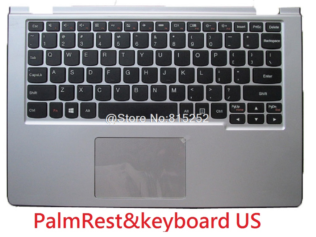 Laptop PalmRest&keyboard For Lenovo Yoga 2 11 English US Canada CA Russia RU Swiss SW  With Touchpad 100% New Original new russian ru laptop keyboard for lenovo ideapad u530 palmrest keyboard bezel cover touchpad with backlit 90204072 black