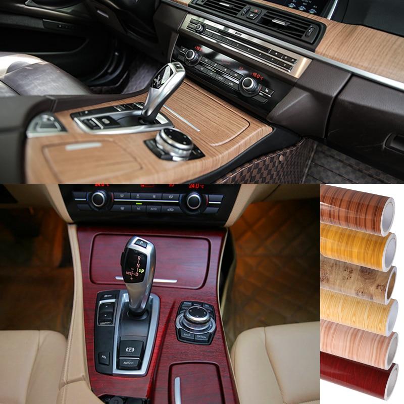 2015 New 2M30CM Car Styling Matte Peach Wood Interior Decorative Sticker Dashboard