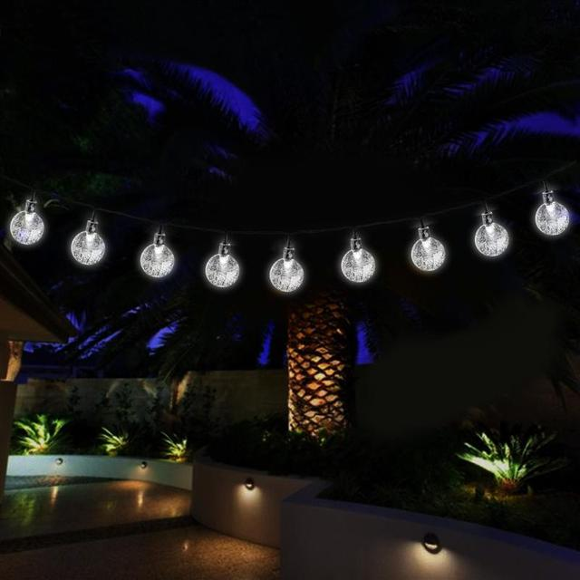 Patio Party Lights String 6m 40led crystal ball solar string lights christmas fairy garden 6m 40led crystal ball solar string lights christmas fairy garden lights for outdoor lawn patio party workwithnaturefo