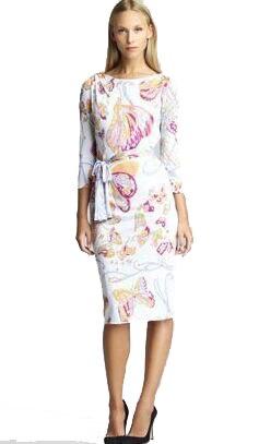 La Cou Plus Slash Xxl Avec Ceintures Taille En Papillon Jersey Vintage Robe Imprimé Élastique New Mince Spring Des fY6yb7gv