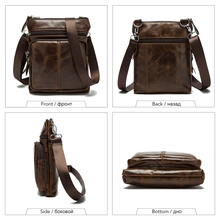 Men Shoulder bag Genuine cow Leather Small male man Crossbody bags for Messenger men Leather bags Handbags