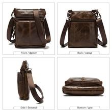 Messenger Bag for Men's, Genuine Leather