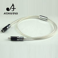 ATAUDIO Hifi Silver Plated Digital Coaxial Cable Hi end 7N OCC 75ohm RCA Coaxial Cable