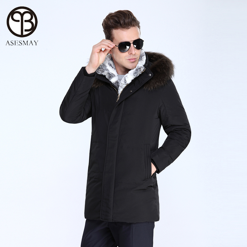 f7409260bc2 Asesmay 2016 Men jacket winter european size down coat men Jacket men's  parka duck down jacket natural fur warm coat -in Down Jackets from Men's  Clothing & ...
