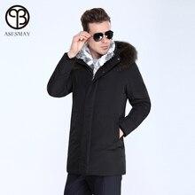 Asesmay 2016 Men jacket winter european size down coat men Jacket tiger force men parka duck down jacket natural fur warm coat