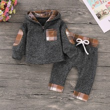 купить Autumn Baby Girl Leopard Clothes Fashion Black Tee Tops + Trousers Toddler Kids 2pcs Outfits Children Cotton Clothing Suits 0-2T дешево