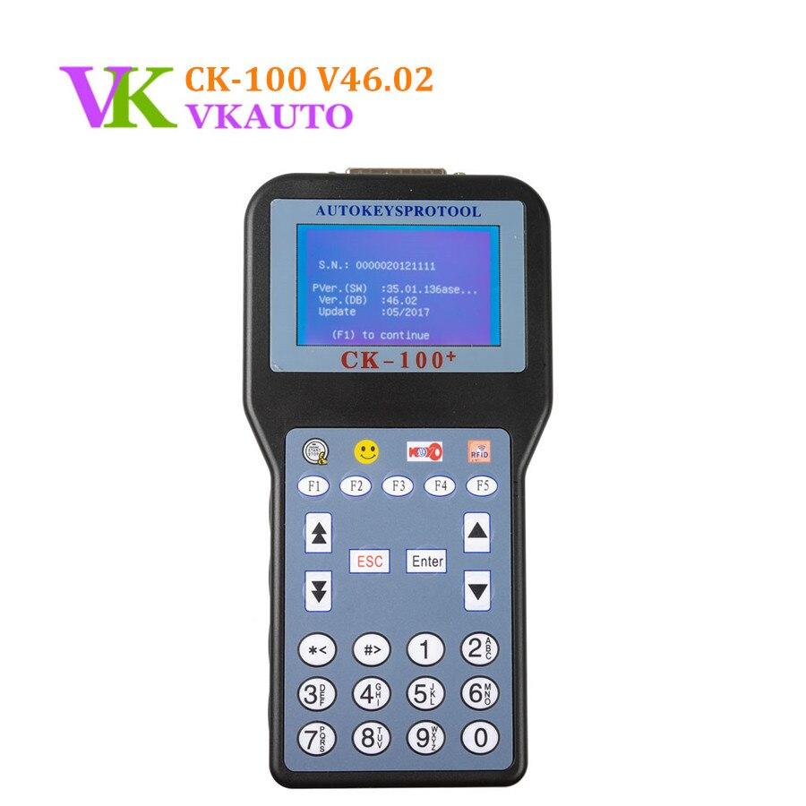 New CK100 V46 02 Auto Key Programmer Unlocked Version Blue Screen SBB Update Version Key Maker