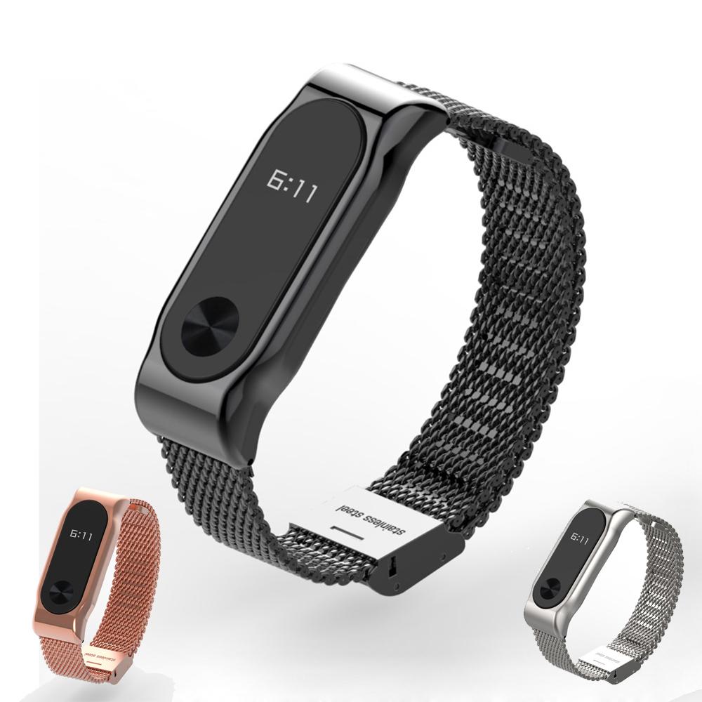 Prix pour D'origine Mijobs Métal Bracelet Bande Pour MiBand 2 Bracelets En Acier Inoxydable Bracelet Pour Xiaomi Mi Bande 2 Remplacer Pour Mi Bande 2