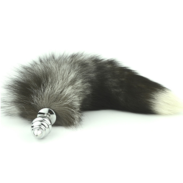 92b50287ca6 Faux Fox tail spiral Anal plug Stainless steel butt plug cat tail anal plug  cosplay anal sex toys metal butt plug dog tail