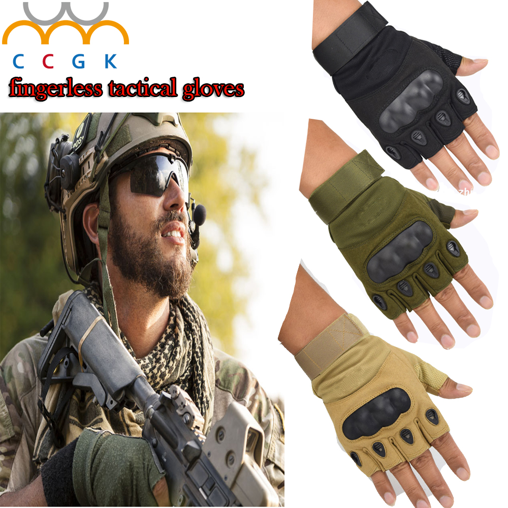 Men Military Army Leather Gloves Half Finger Tactical Combat Shooting Windproof Special Forces gloves Luvas tatico 2017 New fitness gloves summer sun gloves riding sports black hawk military tactical cs special forces leather semi fingertips