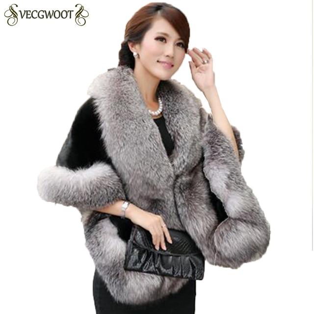 7aef7fdad 2019 Winter Leather Grass Fox Fur Mink Rabbit Fur Poncho Cape Bridal  Wedding Dress Shawl Cape Women Vest Fur Coat QA008