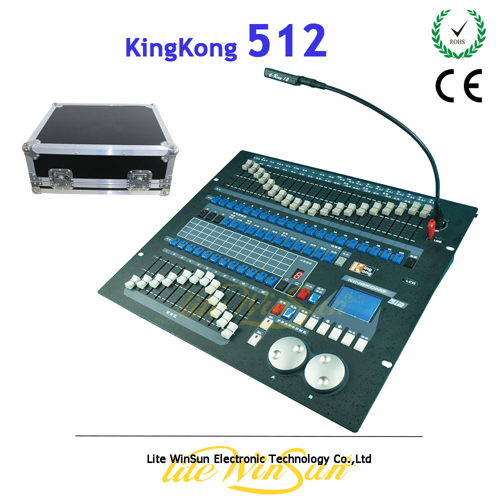 Litewinsune DMX Kingkong Controller KK512 Max Control 60fixtures Support R20 Pear Light Library Free Flight Case dmx512 digital display 24ch dmx address controller dc5v 24v each ch max 3a 8 groups rgb controller