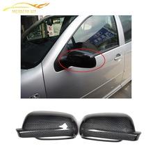 Сменная Стильная крышка для зеркала из углеродного волокна крышки для Volkswagen VW GOLF 4 IV MK4 1997-2003 зеркала заднего вида