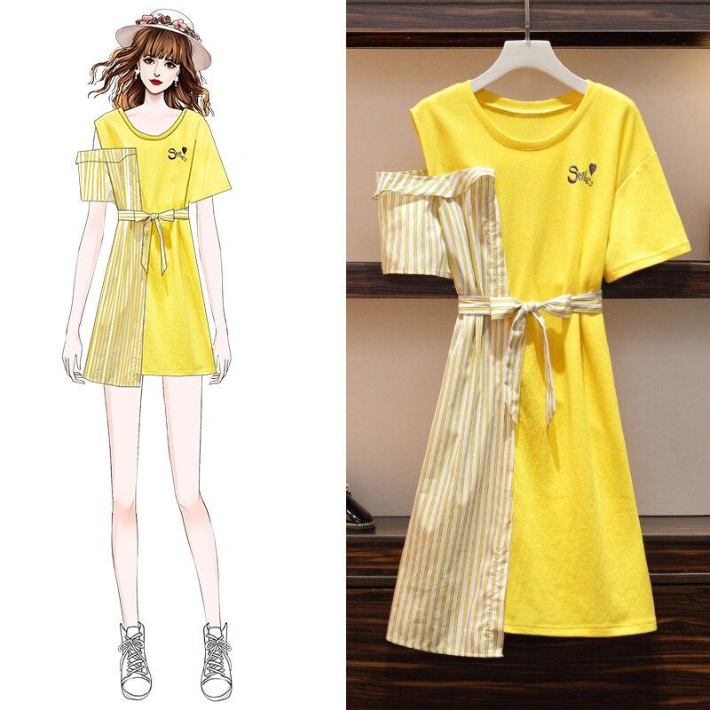 Plus Big Size Women Clothing 2019 Spring Autumn Winter Korean Vestidos Women Dresses W1032