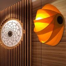 Southeast Asian Corridor Wall Light For Restaurant Hotel Bar Home Lighting E27 Base Wood Sconces Wall Lights Bedside Entrance