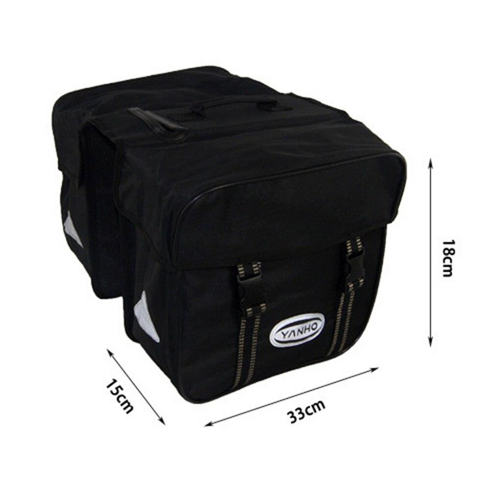 Large Capacity Double Bike Saddle Bag, Waterproof Bicycle Grocery Pannier, Durable Bike Saddle Bag