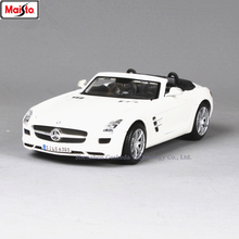 Maisto 1:24 Mercedes-Benz SLS AMG Roadster toy car model For  with Steering wheel control front wheel steering toy car