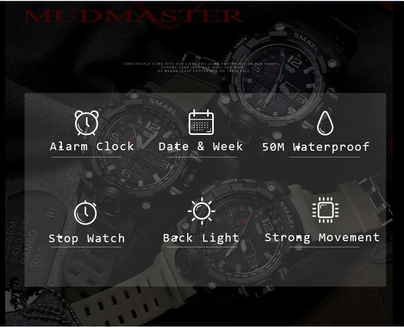HTB1mpEcSXXXXXcHXFXXq6xXFXXXX - SMAEL MUDMASTER 2017 Fasion Sport watch for Men