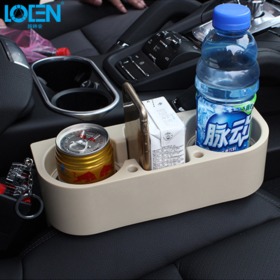 1PC Auto Seat Gap Pocket Catcher Organizer Leak Proof Storage Box Universal Car Vehicle Cup Drink