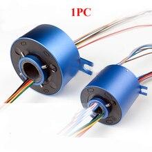 Diamètre 12.7/25.4/38.1/50mm trou de passage bague collectrice connecteur électrique rotatif 10A 54/86/99/113mm collecteur de rotation adaptateur