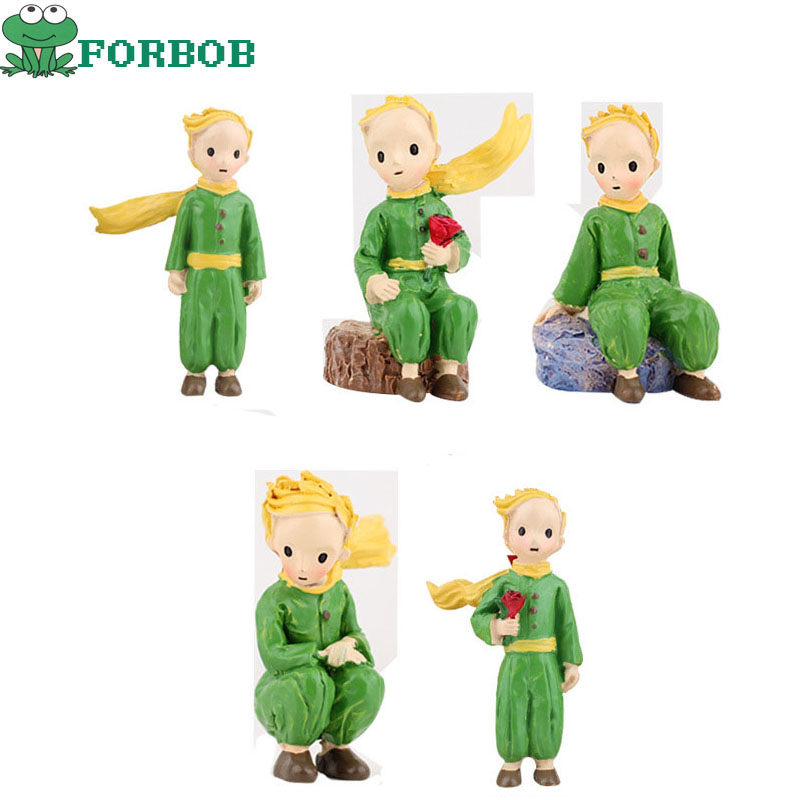 The Little Prince Figures Ornaments Toys 2018 New The Little Prince Rose Action FIgures Decoration Best Kids Toys Christmas Gift
