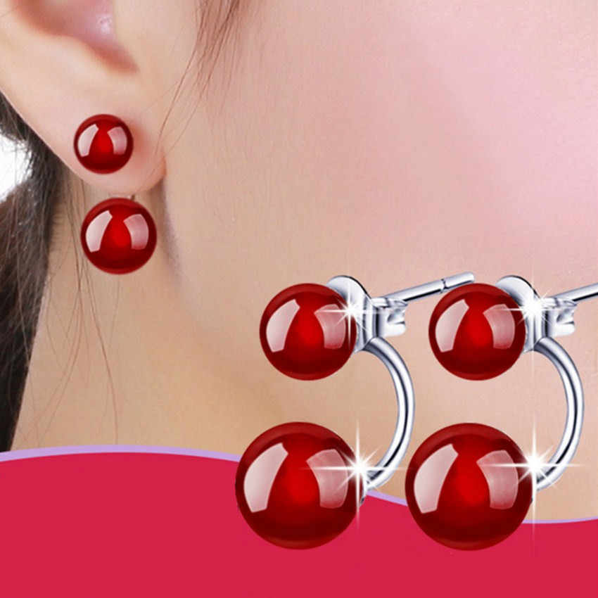 Silver black red  earrings lovely fashion jewelry for women two wearing a high-quality manufacturers, wholesale