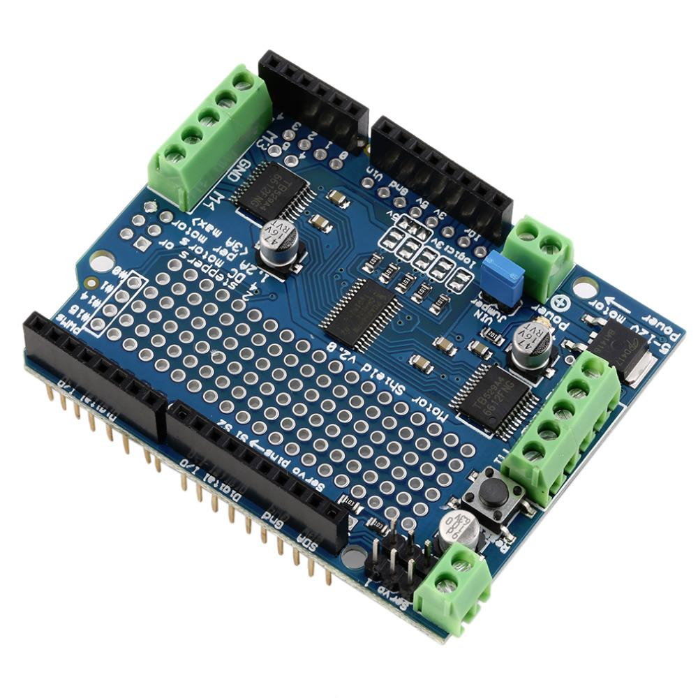 Professional Motor/Stepper/Servo/Robot Shield For Arduino v2 with PWM Driver Shield fastrax up501 gps shield v1 2 for arduino works with official arduino boards