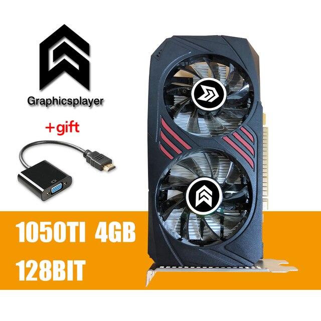 กราฟิกการ์ด PCI E GDDR5 Motherboard วิดีโอ carte วิดีโอการ์ด NVIDIA GTX GTX1050TI 4GB /4096MB