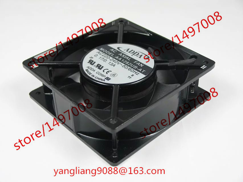 Free Shipping For ADDA AA1282UB-AT AC 220-240V 0.17/0.13A 50/50Hz 2-Piece 120x120x38mm Server Square Cooling Fan Free Shipping free shipping for adda aa8382hb aw s ac 220 240v 0 07 0 06a 2 pin 80x80x38mm server square fan free shipping