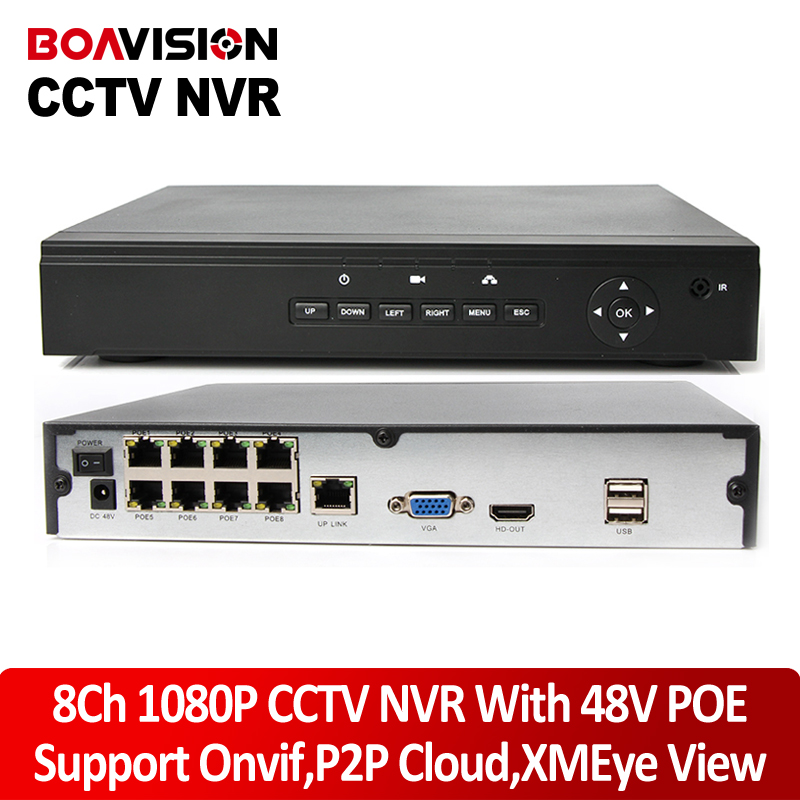Hot 48V Real POE 1080P 8CH NVR Recorder IP Onvif Network Video Recorder 2MP FULL HD 1080P POE IP Camera PoE 48V 802.3af ONVIF techege 4ch 8ch full hd onvif 1080p 48v real poe nvr all in one network video recorder for poe ip cameras p2p xmeye cctv system
