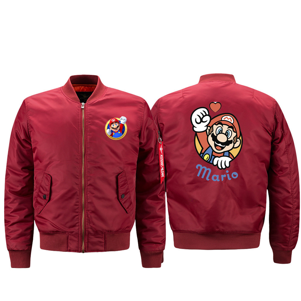 Super Mario Bros Luigi Koopa Yoshi 2019 locomotive bomber jacket men's bomber jacket giacche estive uomo