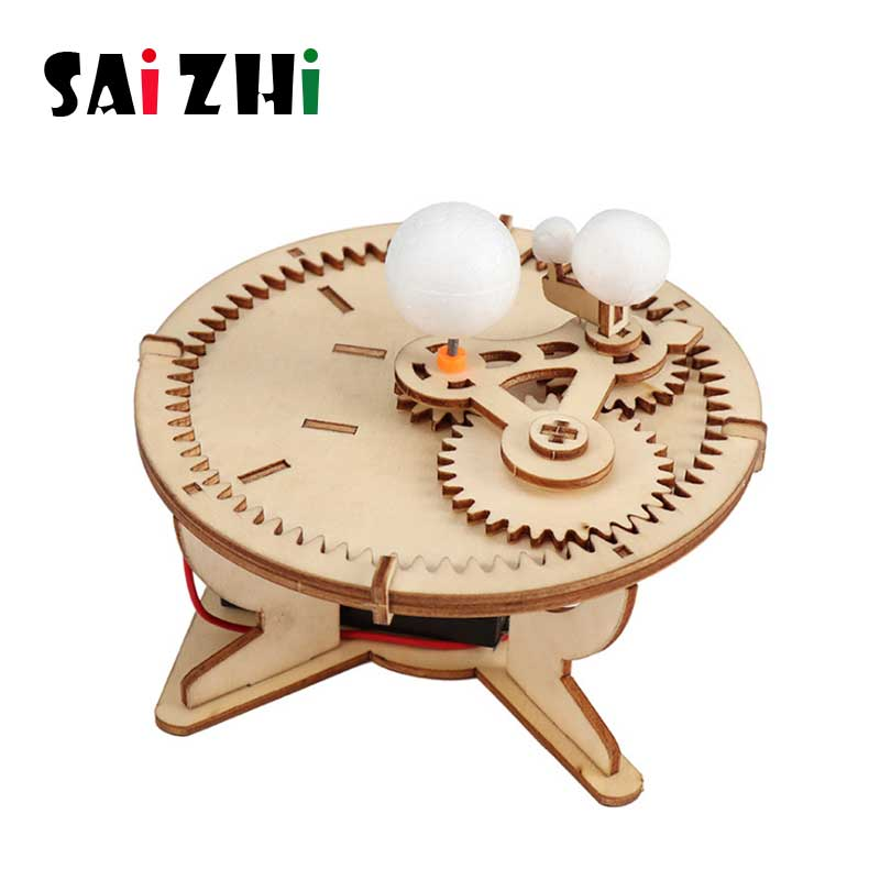 Saizhi Kids DIY Sun-Moon-Earth Geography Model Scientific Experiment Toys Kits STEM Science Project Worldwide Education For Kids