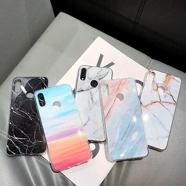 레드 미 노트 5 6 프로 케이스 패션 대리석 foldable 홀더 실리콘 전화 케이스 샤오 미 레드 미 7 프로 미 9 8 라이트 카파