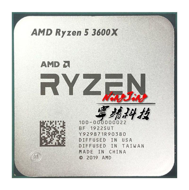 Процессор AMD Ryzen 5 3600X R5 3600X 3,8 ГГц, шесть ядер, двенадцать потоков, процессор 7NM 95 Вт L3 = 32 м 100-000000022 разъем AM4