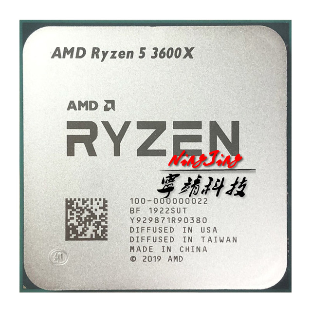 AMD Ryzen 5 3600X R5 3600X 3.8 GHz Six Core Twelve Thread CPU Processor 7NM 95W L3=32M 100 000000022 Socket AM4