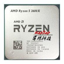 AMD Ryzen 5 3600X R5 3600X3.8 GHz שש ליבות עשר חוט מעבד מעבד 7NM 95W l3 = 32M 100 000000022 שקע AM4