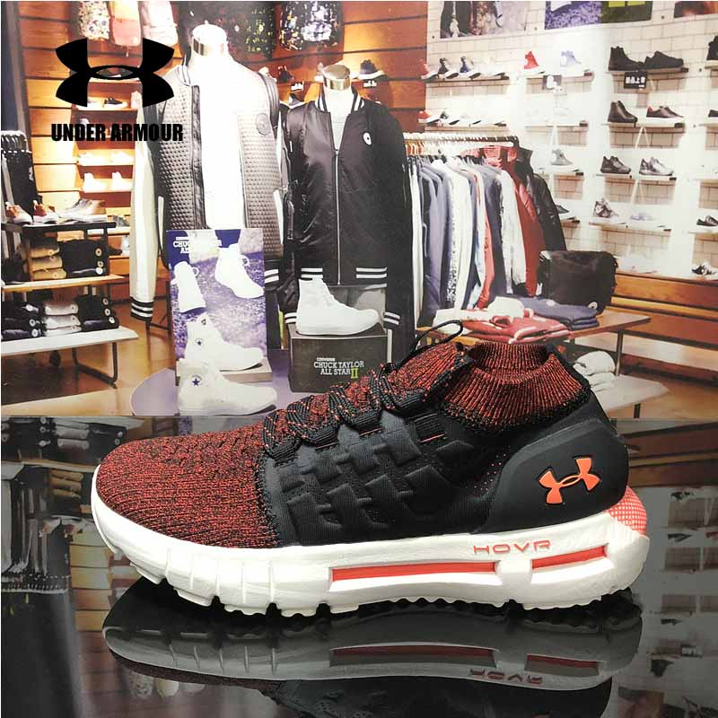 Under Armour Men HOVR Phantom running shoes Unique Sock design sneakers cushioning shoes zapatillas hombre deportiva US 7-11 under armour hovr phantom mens running shoes sock sneakers zapatillas hombre deportiva outdoor walking jogging shoes new arrival