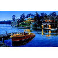 Hot Sale Painting Calligraphy European Landscape DIY Oil Painting By Numbers Decorative Coloring By Number Wall