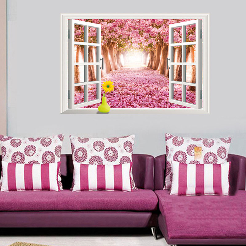 aliexpress : buy new cute kawaii sakura window removable home