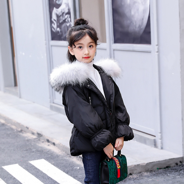 Girl clothes parka real fur Coat Winter Outwear Warm Down Jackets Children Thick Padded Snow For clothing snowsuit high quality new winter jacket parka women winter coat women warm outwear thick cotton padded short jackets coat plus size 5l41