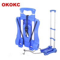 OKOKC Travel Accessories Shopping Cart 2 Wheels Rolling Cart Removable Trolley Carts Portable Folding Luggage