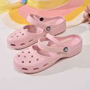 Image 3 - חדש הגעה נשים של קל דירות סנדלי קיץ זול Mule קבקבי גבירותיי בנות גן נעלי עבודת סיעוד כפכפים נעליים