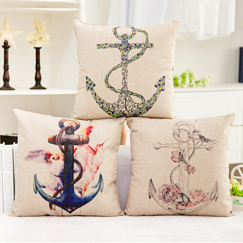 2016 Hot sales cheap thin linen cushion/pillow(not including filling) on sofa for home decoration 45*45cm