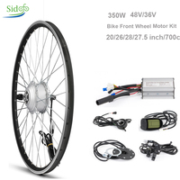 Brushless Motor 48V 350W Motorcycle Electric Bike Kit Front Controller Bicycle Hub 26''Bicycle Electric Scooter Hub Motor Wheel
