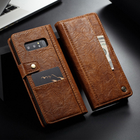 Original CaseMe Vintage Leather Wallet Case For Samsung Galaxy Note 8 Cover Inner & Outer Card Holders Slots Button Flip Cases