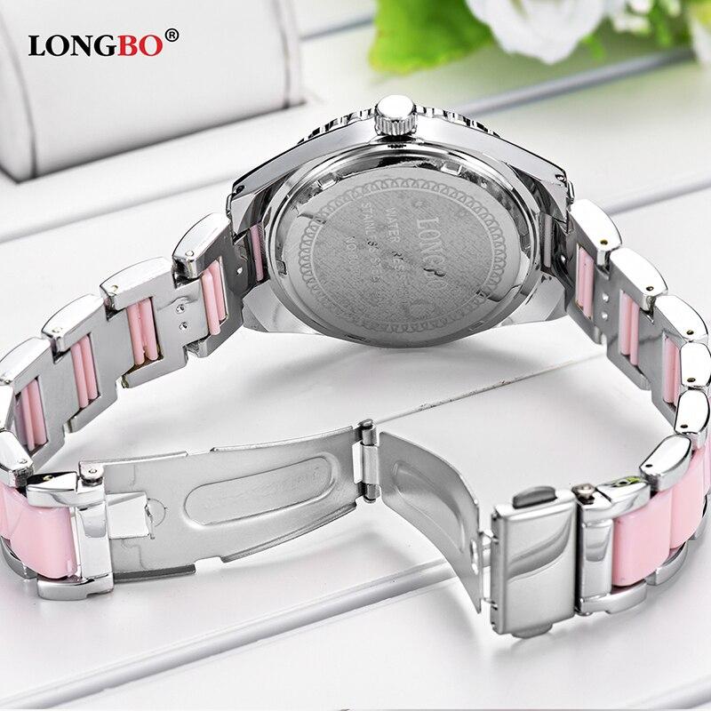8cc345f58b5 LONGBO Marca Top Moda relógios Mulheres Relógio de Luxo de Cerâmica ...